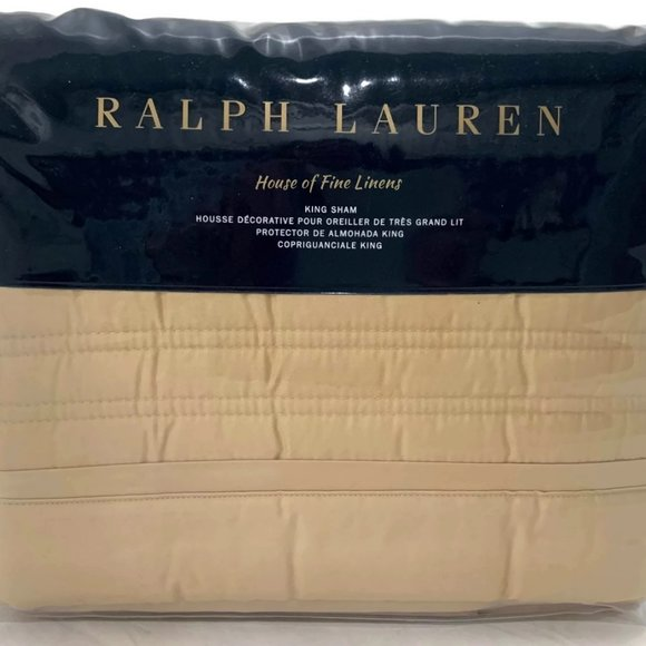 Ralph Lauren Home Other - Ralph Lauren Reed King Sham Polished Bronze
